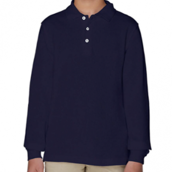 Long Sleeve Pique Polo Unisex