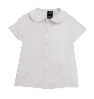 Short Sleeve Peter Pan Blouse (Feminine Fit)