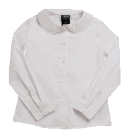 Long Sleeve Peter Pan Blouse with Lace Trim Collar (Feminine Fit)