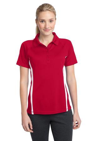 Sport-Tek Ladies PosiCharge Micro-Mesh Colorblock Polo