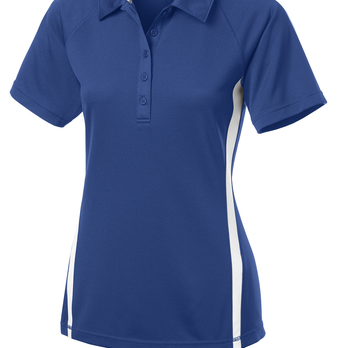 Sport-Tek Ladies PosiCharge Micro-Mesh Colorblock Polo Blue