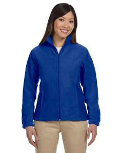 Harriton Ladies' 8 oz. Full-Zip Fleece Blue