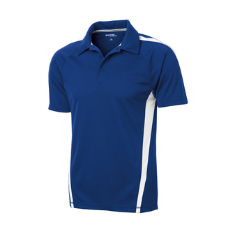 Sport-Tek Men PosiCharge Micro-Mesh Colorblock Polo Blue